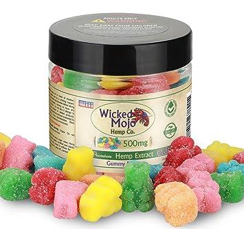 Hemp Gummy Bears - 500mg - App  15mg Per Gummy - Best Tasting Hemp Oil  Extract Gummies