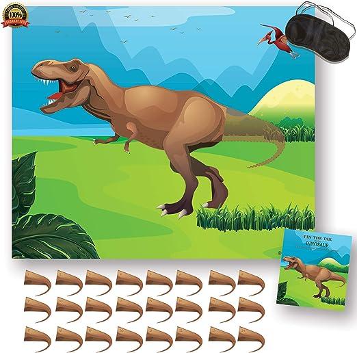 Amazon.com: Pin la cola en el dinosaurio – fiesta de ...