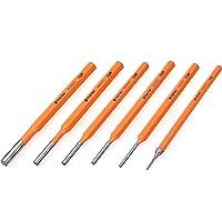 Tactix 230011 Punch Pin Set, Black/Orange, 6-Piece