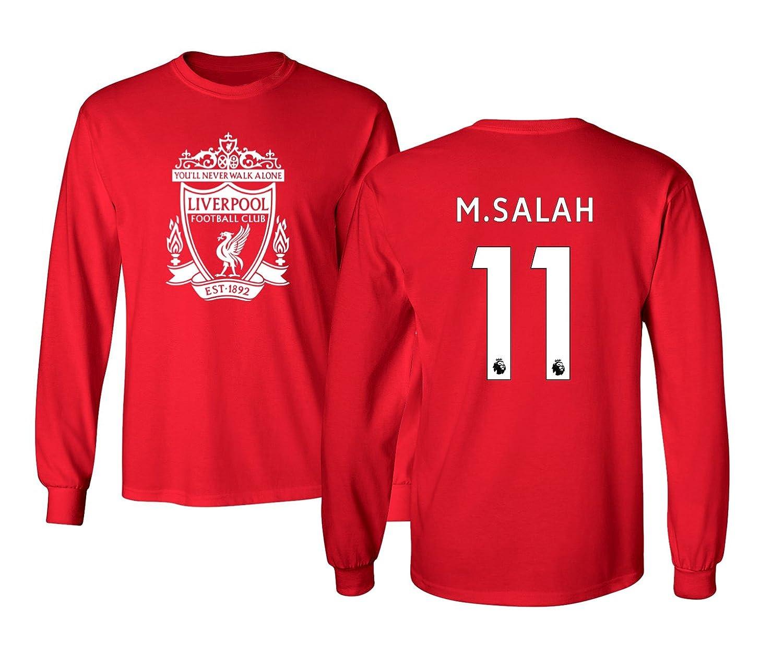 78379b078d1 Amazon.com  Tcamp Liverpool  11 Mohamed SALAH Premier League Men s Long  Sleeve T-Shirt  Sports   Outdoors