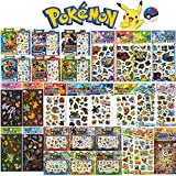 XY POKEMON Assorted Hologram 3D Puffy Sticker Set : 10 Sheets 1 Set (Random)
