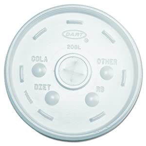 Dart 20SL Cold Cup Lids, 32oz Cups, Translucent, 100 Per Sleeve (Case of 10 Sleeves)