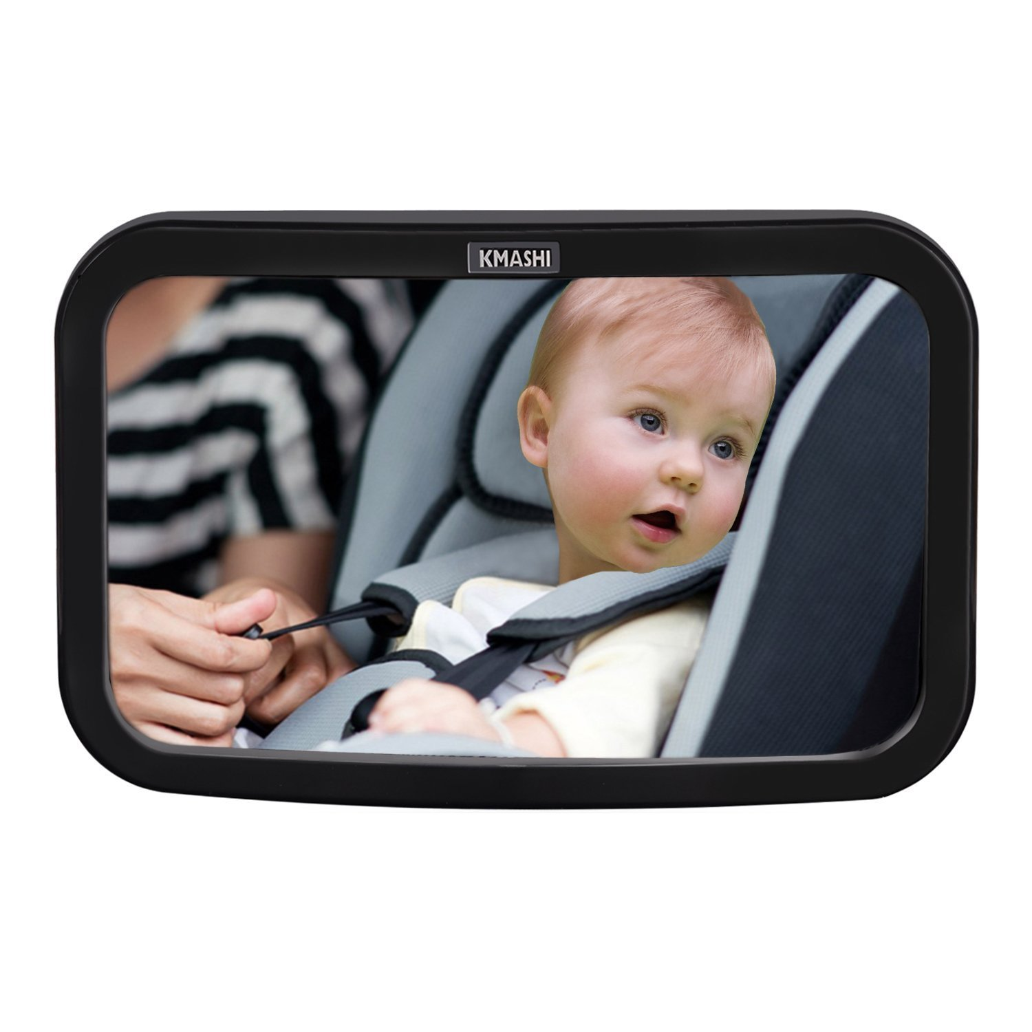KMASHI Baby Car Mirror Back Seat Mirror Wide Convex Shatterproof Glass Adjustable Auto Rear View Safety Mirrors