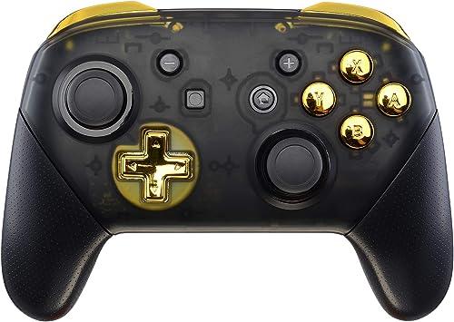 eXtremeRate ABXY D-Pad ZR ZL L R Botones para Mando Nintendo Switch Pro DIY Teclas de Reemplazo Botón Completo con Herramientas para Nintendo Switch Pro-Controlador NO Incluido(Oro Cromado): Amazon.es: Electrónica