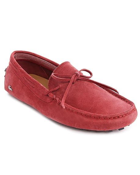 Lacoste - Mocasines - de manga corta para hombre - Concours 7 de encaje rojo tipo Mocasín de ante para hombre: Amazon.es: Zapatos y complementos