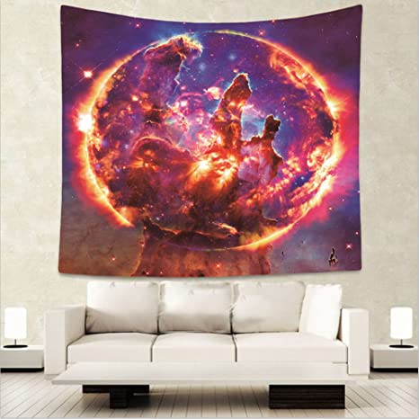 Tapiz Universo Vía Láctea Star Ball Espacio Decoración Tapiz Bohemio Tapiz Cuarto Sala Manteles Estera De