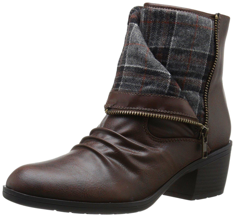 LifeStride Women's Watchful Boot, Dark Brown, 11 M US