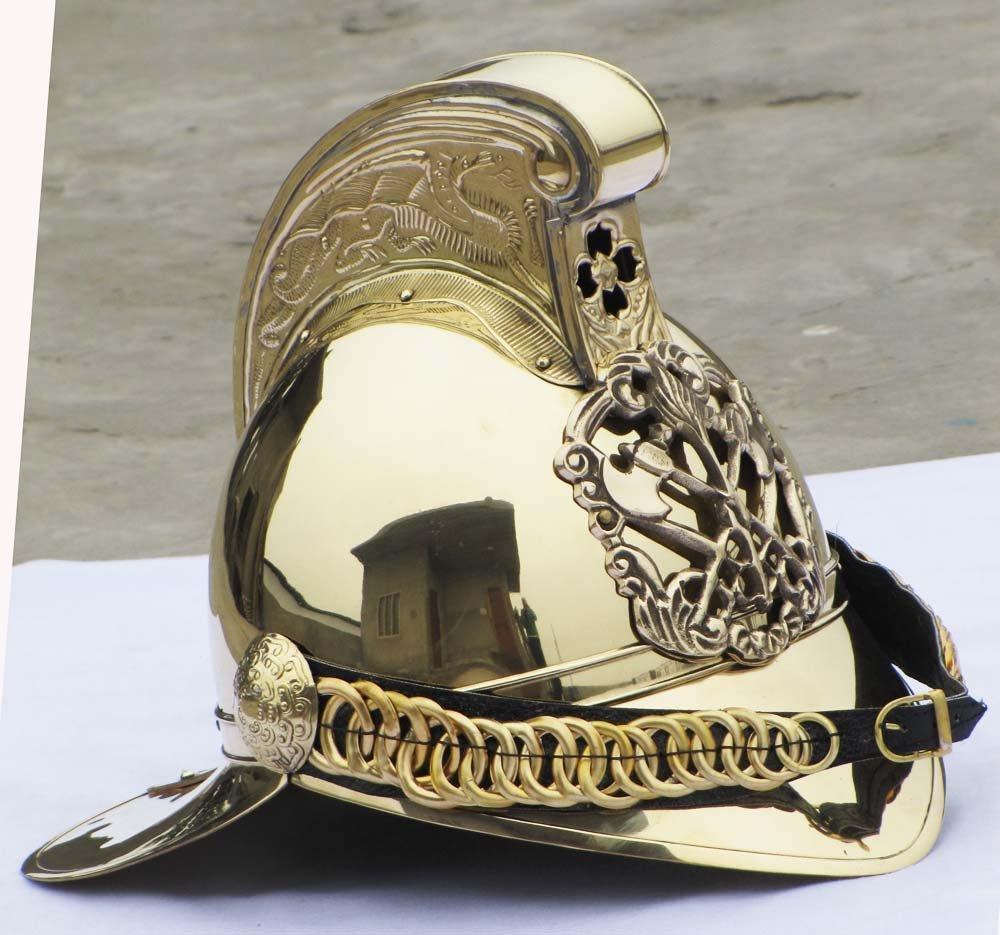 ビクトリア朝 MERRYWEATHER 真鍮 消防士 消防士 ブリティッシュチーフヘルメット