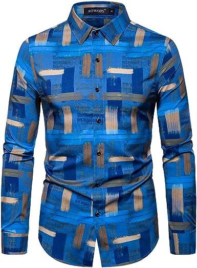 Sylar Camisas De Hombre Manga Larga Camisas Estampado Hombre Tie-Dye Camisa Hombre Camisa Casual Camiseta para Hombre Tops para Hombre Blusa para Hombre: Amazon.es: Ropa y accesorios