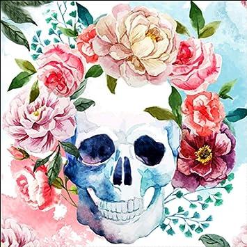 tableau peinture déco murale tête de mort 16