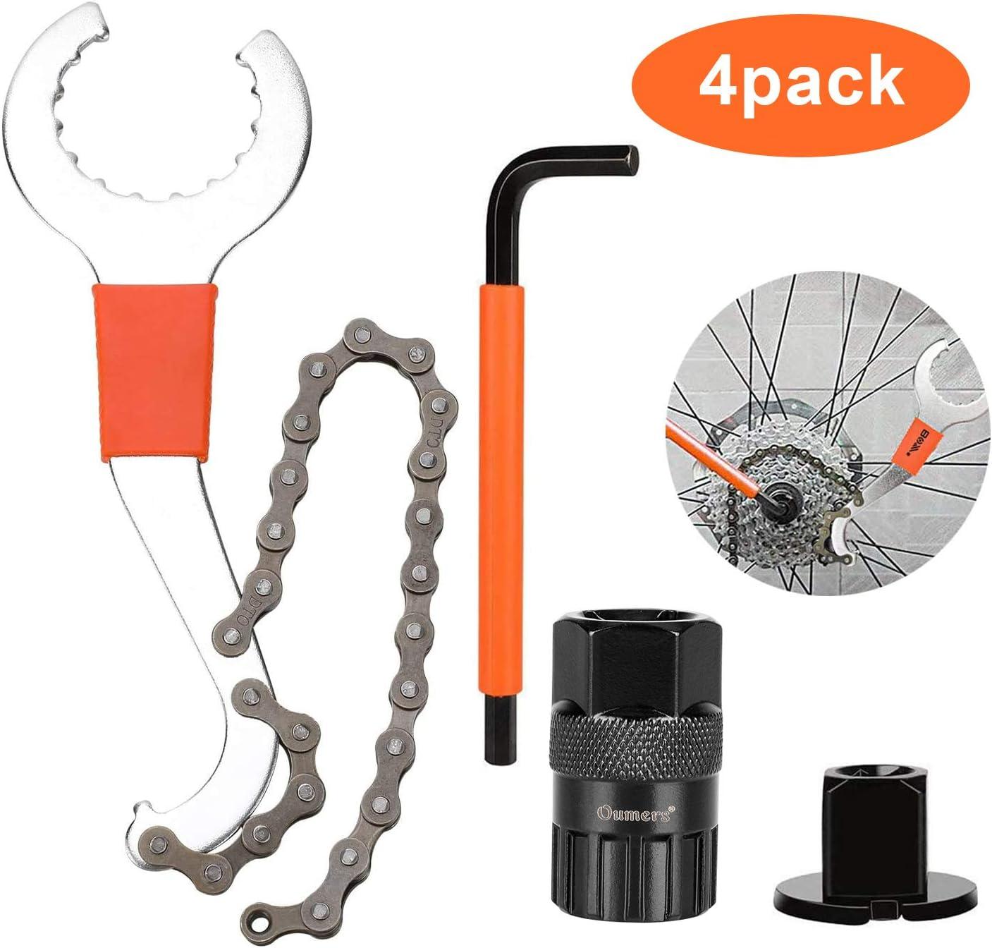 Bicycle Bike Freewheel Sprocket Remover Breaker Chain Tool Whip Cog Cassette Set