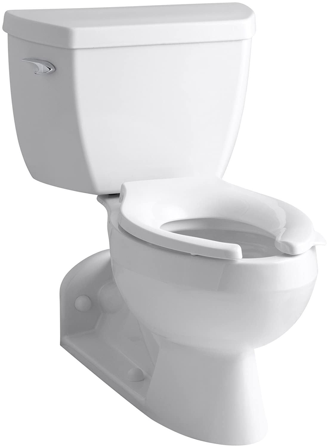Kohler elongated back discharge toilet