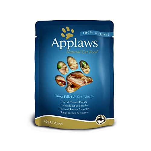 Applaws Cat Food Pouch 70g Tuna with Seabream pack of 12
