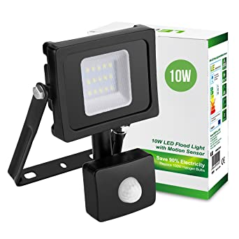 Le 10w motion sensor led flood lights outdoor security light 100w le 10w motion sensor led flood lights outdoor security light 100w halogen lights equivalent aloadofball Images