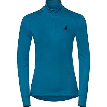 Odlo Warm T-Shirt manches longues 1 2 zip Femme  Amazon.fr  Sports ... 1788128479b