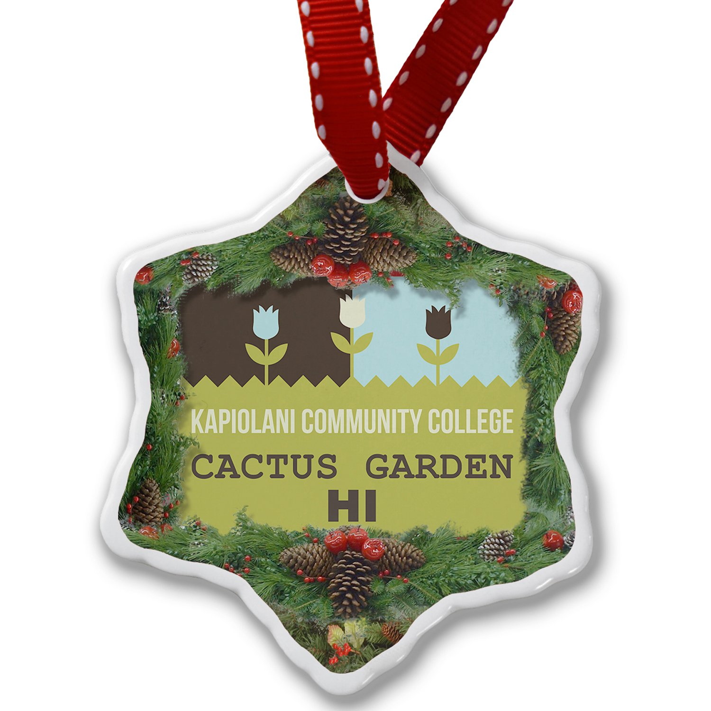 Christmas Ornament US Gardens Kapiolani Community College Cactus Garden - HI - Neonblond by NEONBLOND (Image #1)