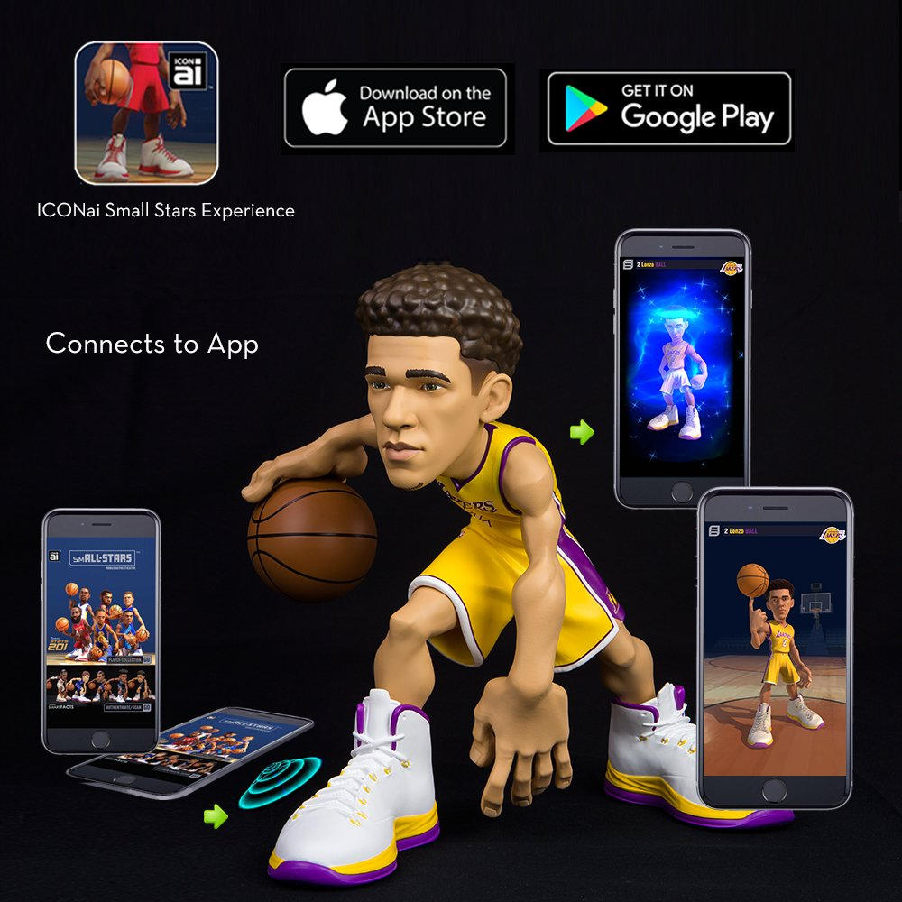 23c66481d59 Amazon.com  ICONai Small-Stars Lonzo Ball 11-inch Smart Collectible NBA  Figure  ONLY ~300 Figures Produced LA Lakers Icon Edition Jersey  Amazon  Exclusive ...