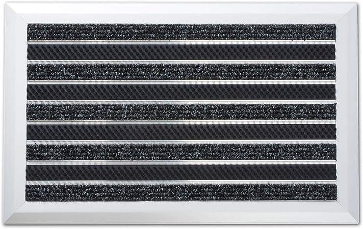 Tapis Brosse casa pura Tapis dEntr/ée Ext/érieur Paillasson avec Cadre en Aluminium Brosse Tapis de Porte Differents Mat/ériaux Tapis Anti-Salissures 40x60 cm
