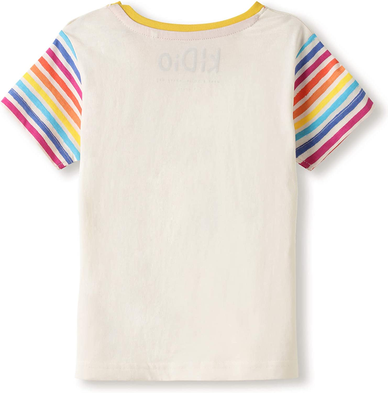 0-4 Anni T-Shirt Manica Corta Ragazzo Ragazza Beb/è Bambini Piccoli kIDio Cotone Biologico