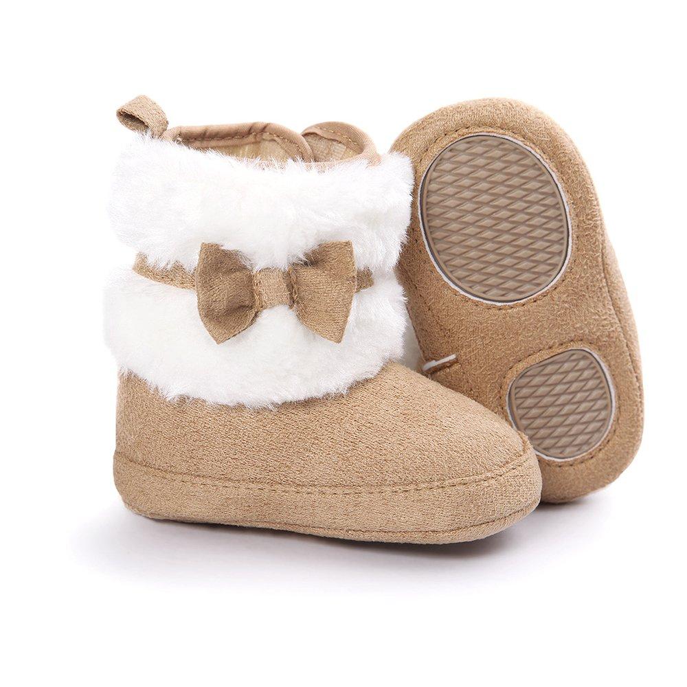 Matt Keely Beb/é Ni/ña Bowknot Botas de nieve Zapatos de invierno c/álido Botines