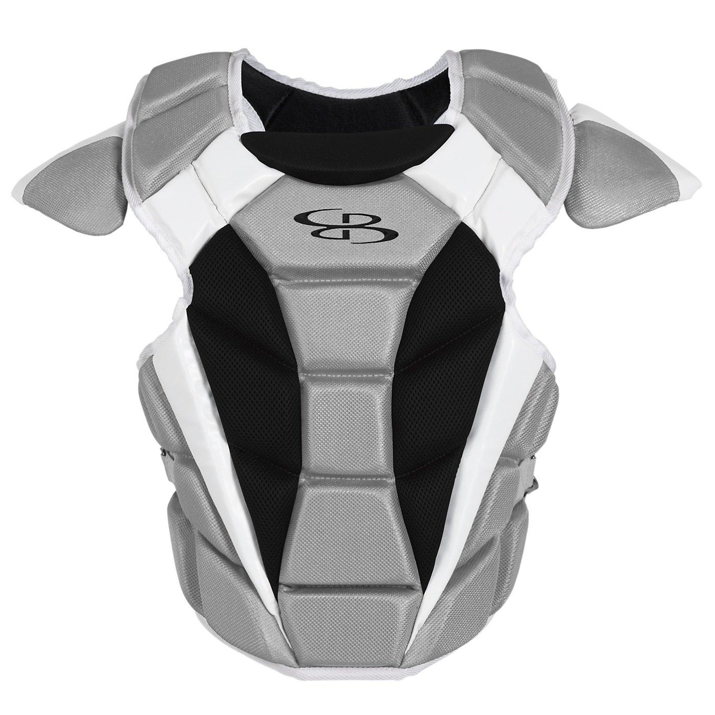 Boombah Defconメンズ野球/ソフトボール胸プロテクター – 複数色 – 複数のサイズ B01NBE7OCMブラック/グレー Adult-16.5\