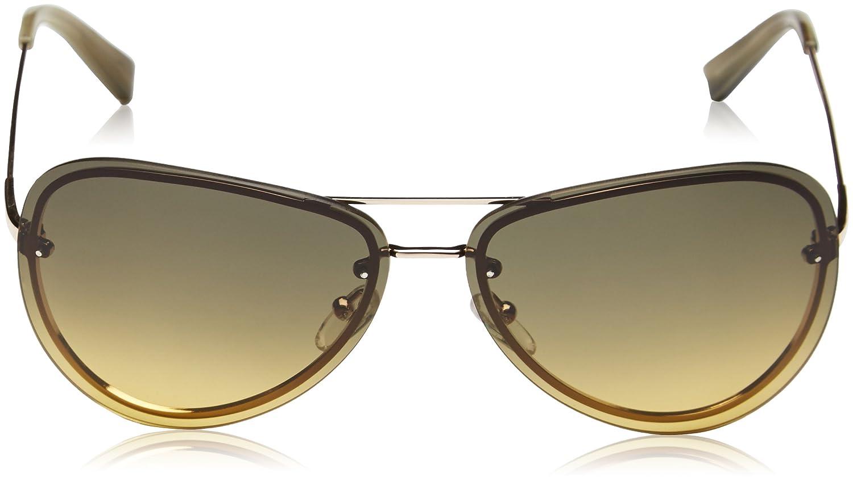 Calvin Klein Herren CK7487 Aviator Sonnenbrille, 025 Gradient Yellow/Brown
