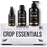 MANSCAPED™ Crop Essentials, Male Care Hygiene Bundle, Includes Invigorating Body Wash, Moisturizing Ball Deodorant, High…