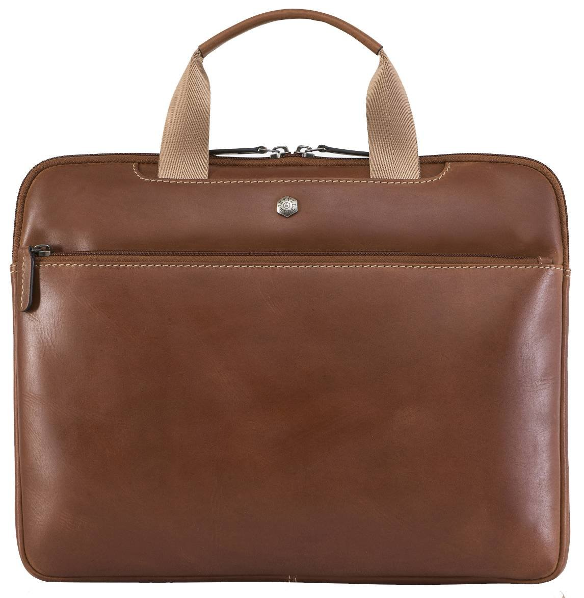 Jekyll and Hide Clay Brown Texas 13inch Leather PC Briefcase