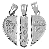 Amazon Price History for:Textured Sterling Silver 3-Piece Mom and Daughters Breakable Heart Necklace Pendant