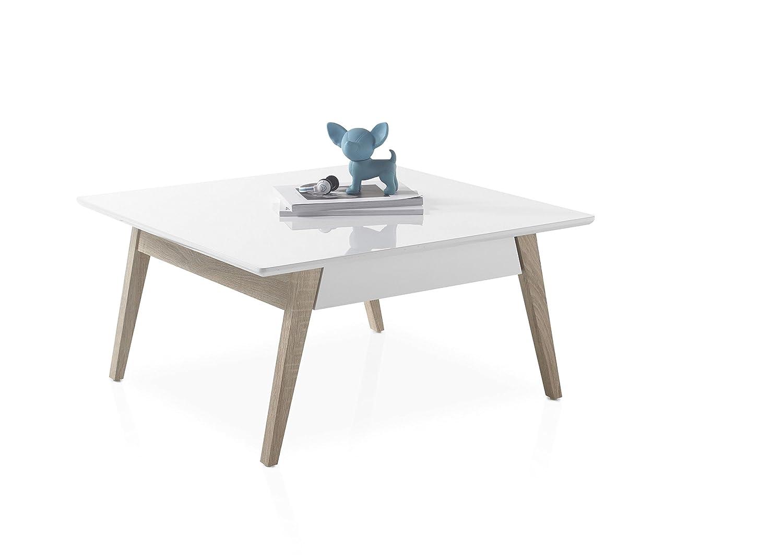 Holz Stella Trading Romy Mini Couchtisch wei/ß 75 x 75 x 41 cm