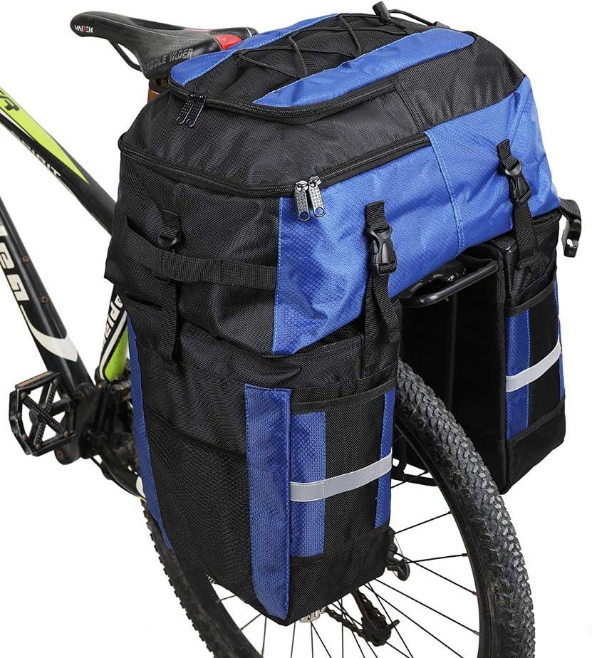 Rhinowalk Bike Bag 3 in 1 Bike Pannier Bag 70L Bicycle Rack Trunks Rear Seat Carrier Pack Multifuction Bicycle Bag