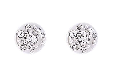 e92ae3670 Karen Millen Silver/Crystal Sprinkle Stud Earrings: Amazon.co.uk: Jewellery