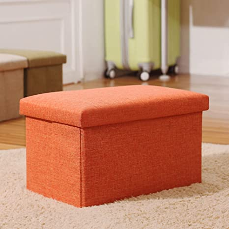 Wondrous Inoutdoorkit Storage Ottoman Orange 16X10X10 Alphanode Cool Chair Designs And Ideas Alphanodeonline
