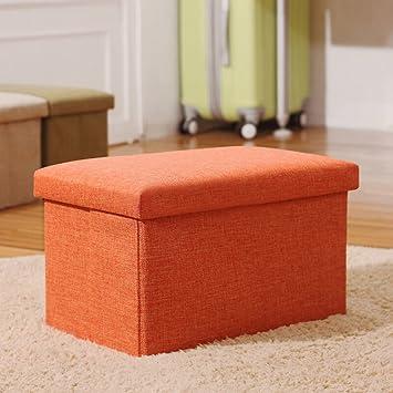 Inoutdoorkit FS LN01 Linen Folding Organizer Storage Ottoman Bench Cube  Foot Stool, Footrest Step