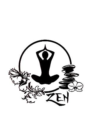 REGALOS ESTRELLA AZUL Vinilo de pared decorativos, yoga, zen ...