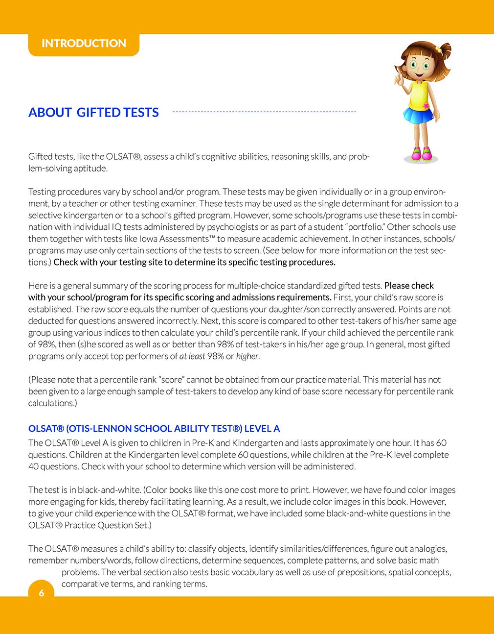 Amazon.com: Gifted and Talented OLSAT Test Prep: Gifted test prep book for the OLSAT; Workbook for children in preschool and kindergarten (Gifted Games) ...