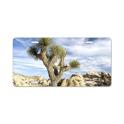 Chrome License Plate Frame Joshua Tree Auto Accessory Novelty National Park