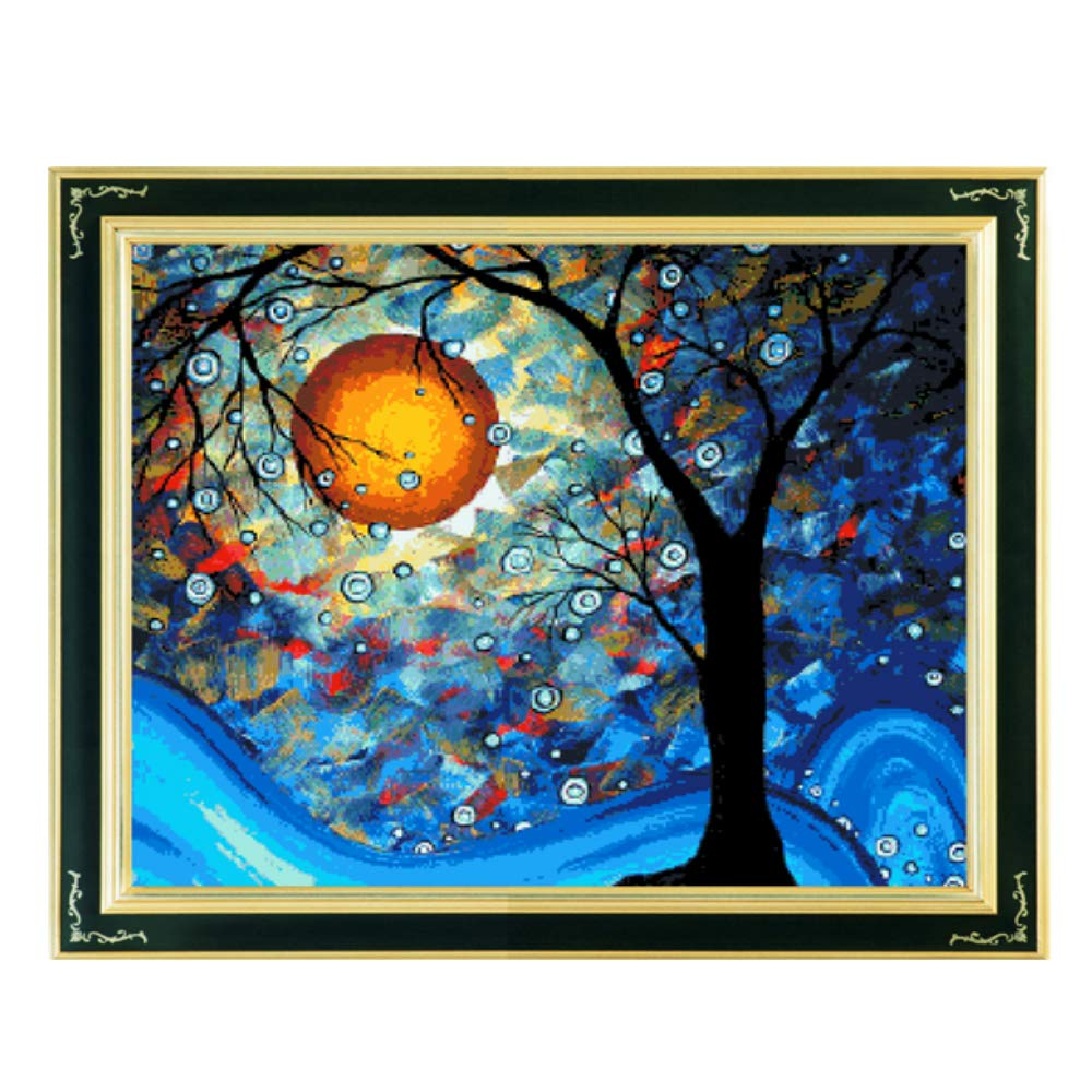 Cross stitch, Van Gogh, the world tree, come true, P0009 YanFa Cross stitch