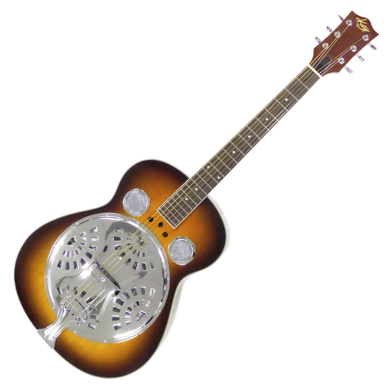 Kay KDR336 Round Neck Acoustic Resonator Guitar, Tobacco Sunburst Finish - Refurbished by