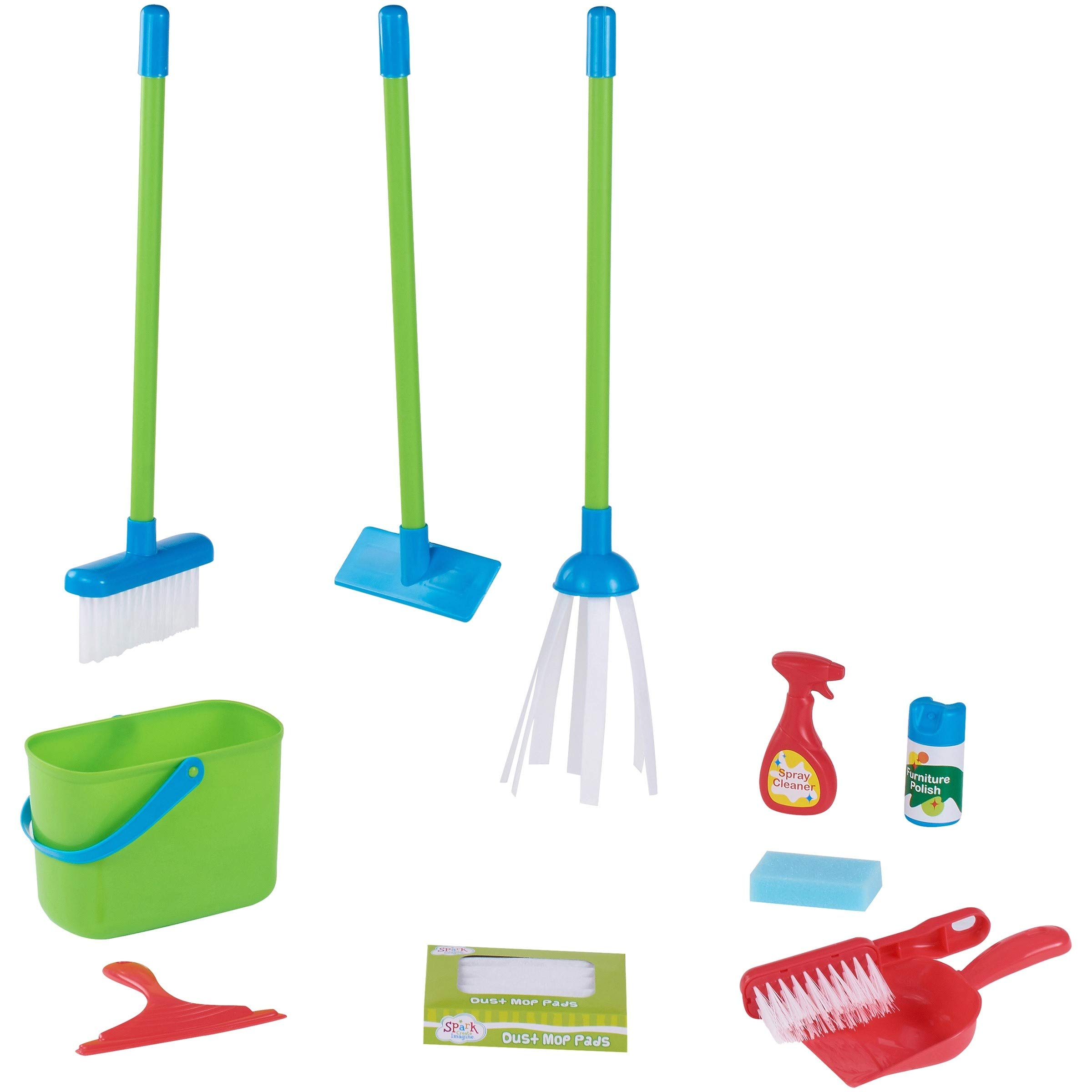 GJR 16-Piece Play Cleaning Set with Bucket is an Adorable Addition to Any Toddler's Toy Collection, and is Sure to Provide Countless Hours of Fun at Home