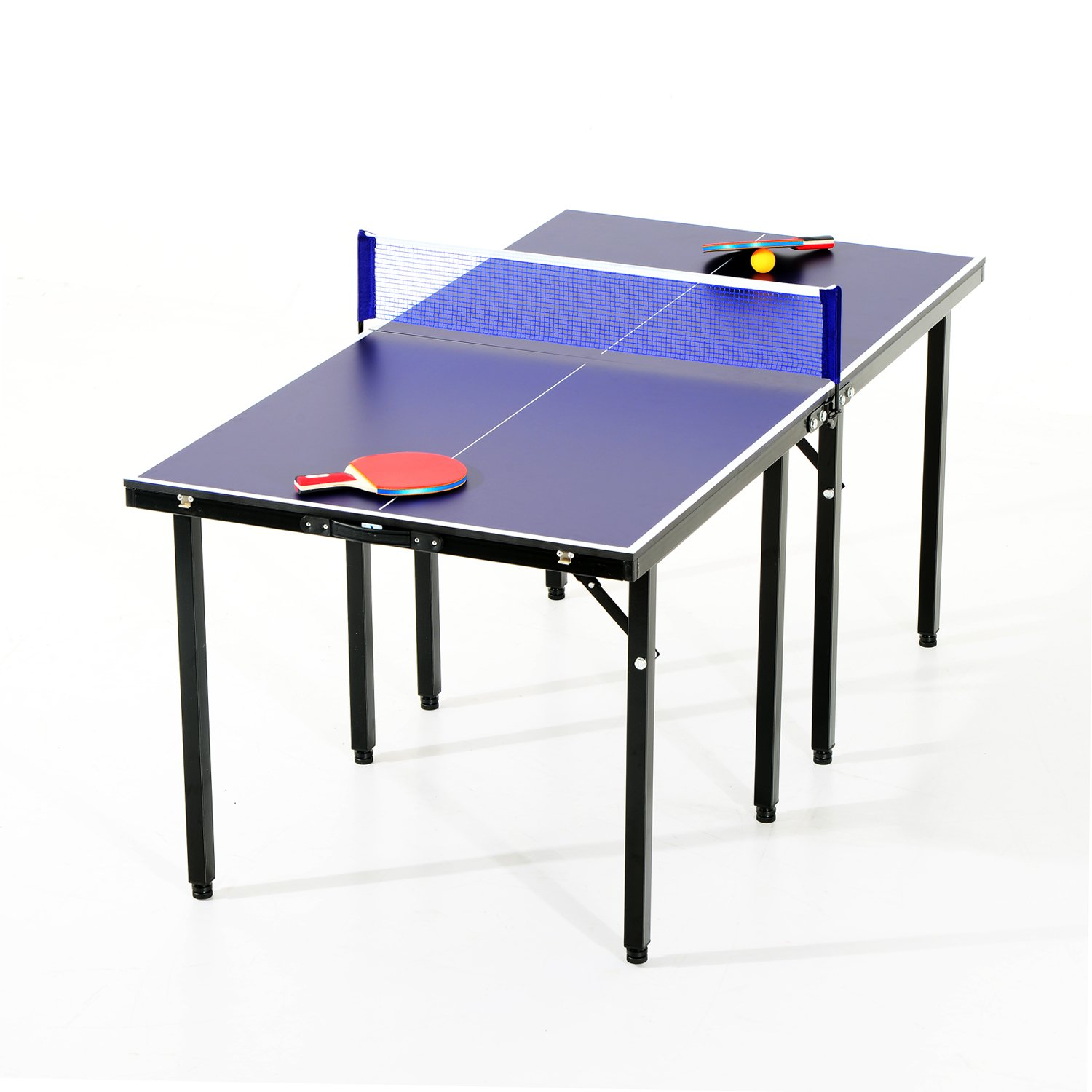 amazon com aosom 5 u0027 folding indoor outdoor table tennis table set