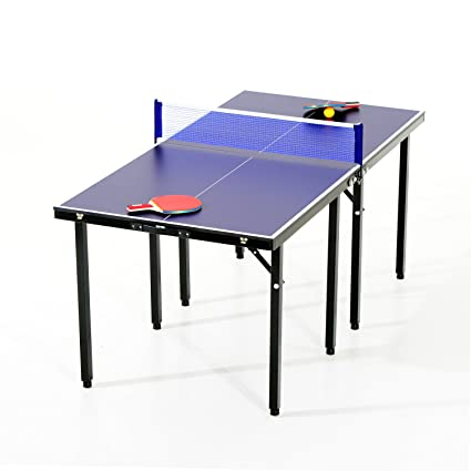 Aosom 5u0027 Folding Indoor/Outdoor Table Tennis Table Set