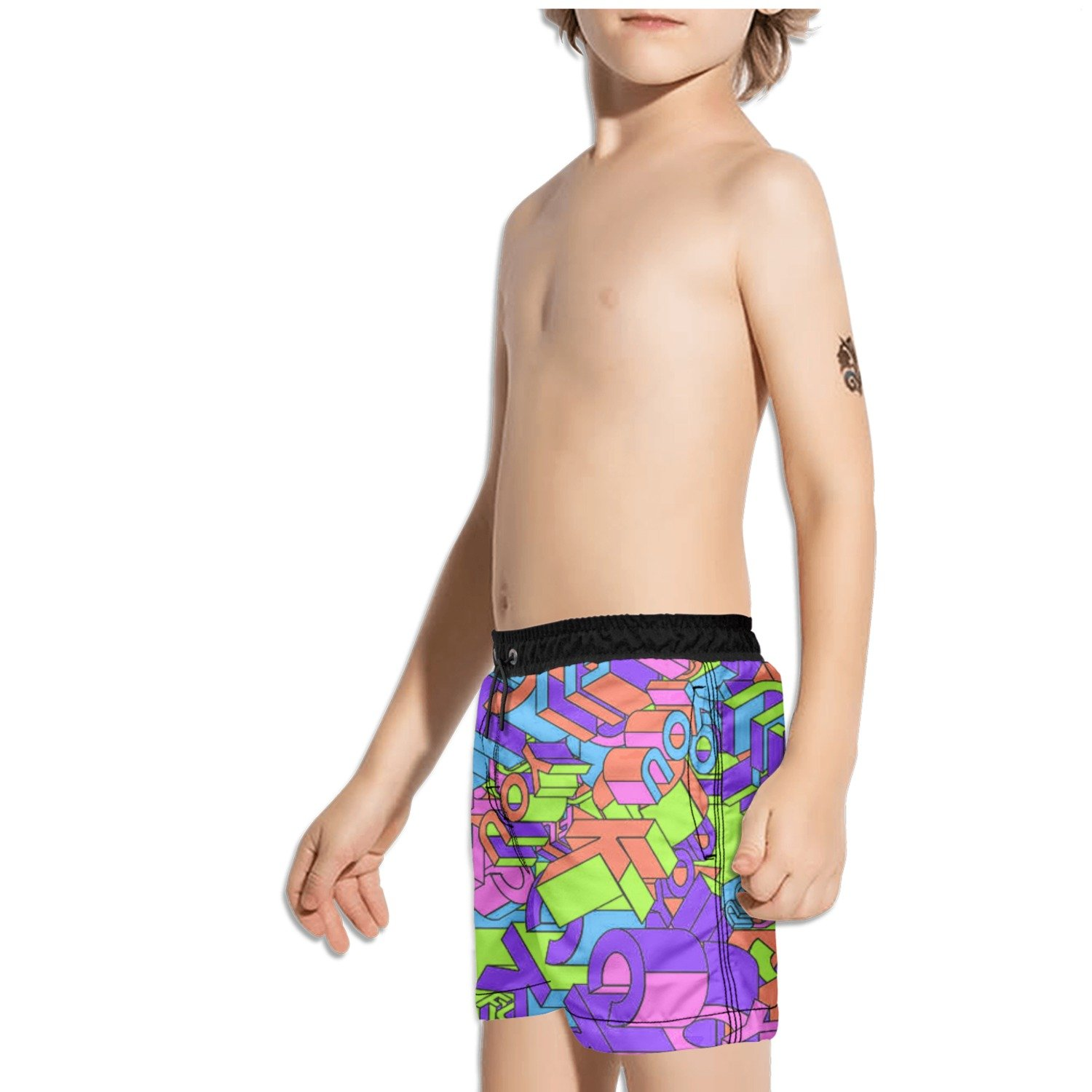 Ouxioaz Boys Swim Trunk Colorful F ck It Logo Beach Board Shorts