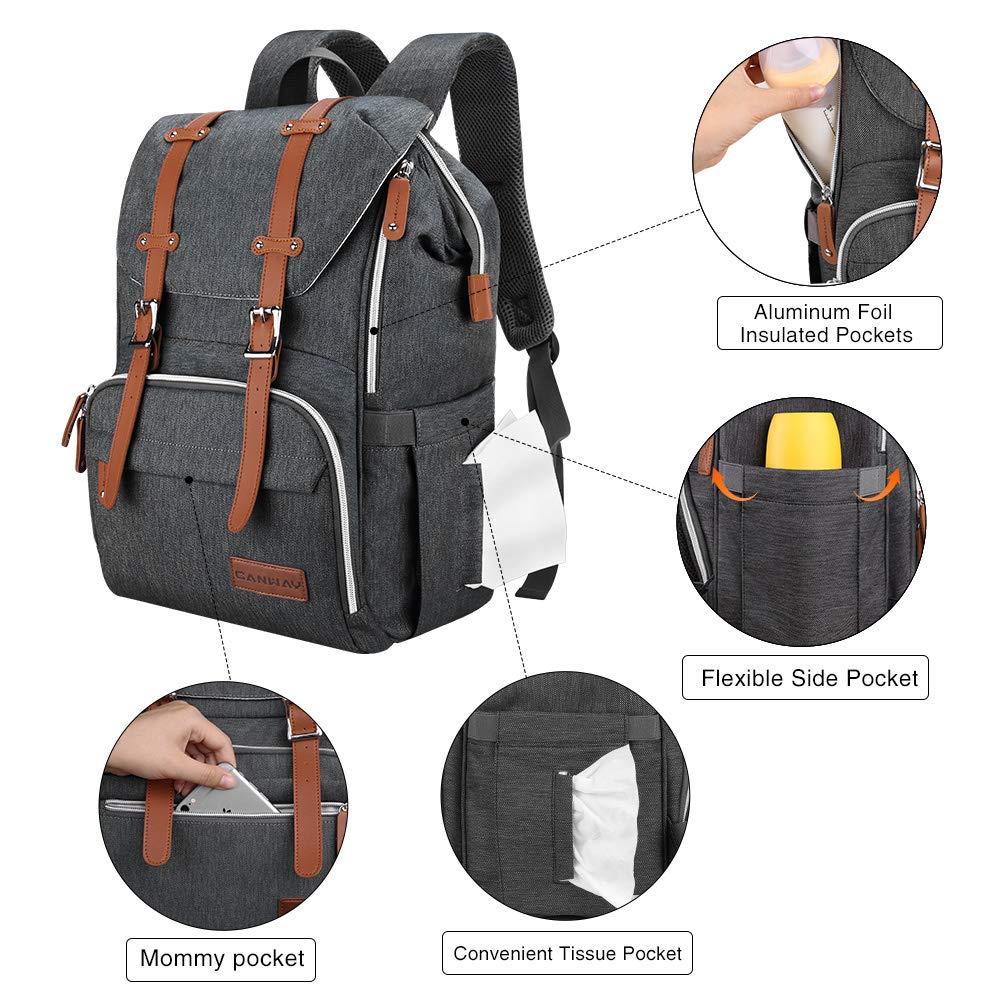 Amazon.com: Canway - Mochila para pañales con cambiador para ...