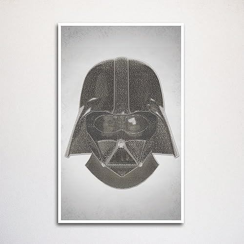 amazon com star wars word art print 11x17 handmade