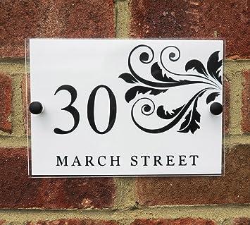 Amazon.com: Cartel para número de casa/placa de dirección ...