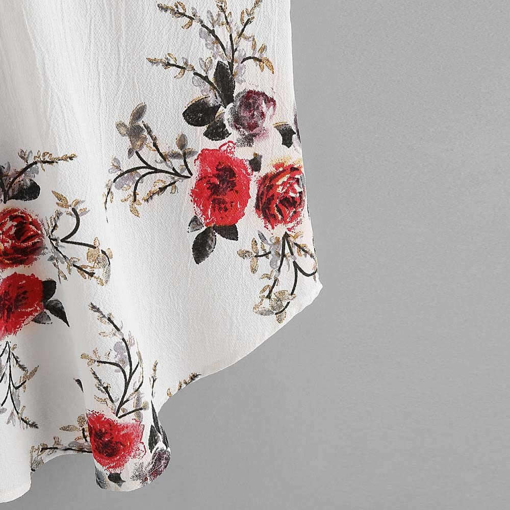 MORCHAN Femmes Floral D/écontract/é sans Manches Crop Top Gilet D/ébardeur Blouse Cami Top