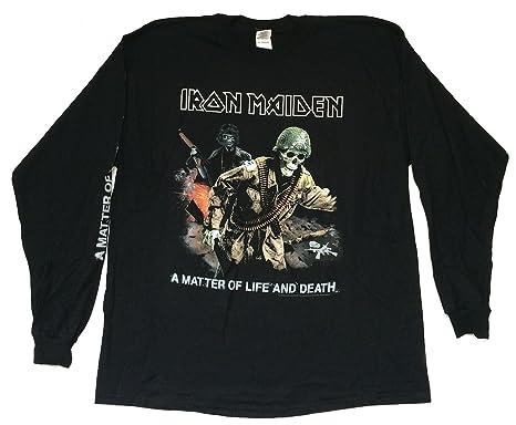 Amazon com: Iron Maiden Matter of Life & Death Black Long