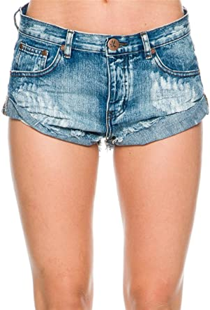 6e20eeb87 Amazon.com: One Teaspoon Women's Bandit Shorts: Clothing