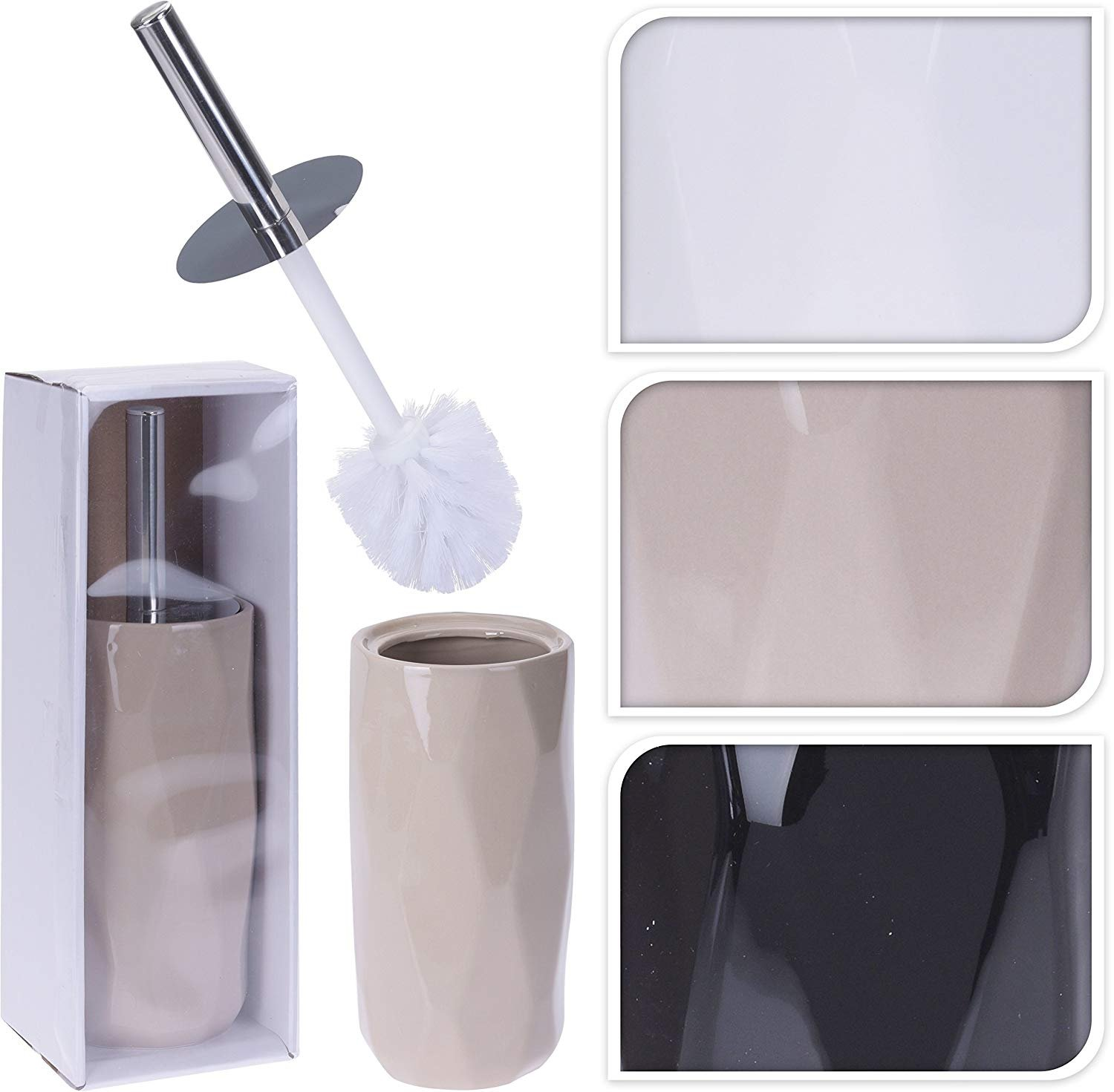 BATHROOM SET 6 PIECE ACCESSORY BIN SOAP DISH DISPENSER TUMBLER TOOTHBRUSH HOLDER (BLACK)